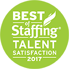 Best of Staffing - Talent Satisfaction 2017